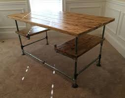 West Elm 2x2 Console Desk Inspiration Galvanized Pipe Desk Table Could Also Add A Shelf