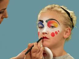where to buy good halloween makeup how to paint a clown face for halloween hgtv