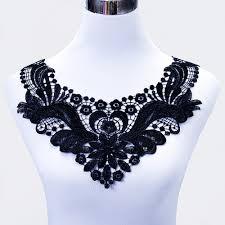 lace accessories 1pc 35x32cm two color lace collar applique neck neckline flower