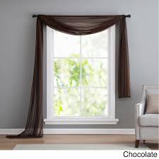 vcny infinity sheer window scarf valance 54x216 wedgewood