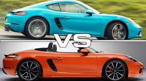 porsche boxter vs cayman porsche 718 cayman s vs porsche 718 boxster s
