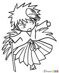 how to draw ichigo kurosaki chibi bleach manga