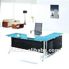 Office Furniture Glass Desk Glass Office Furniture Desk Contemporary Maple Glass Top Desk With