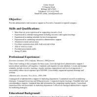 Executive Assistant Resume Sample by Interesting Executive Assistant Resume Sample For Job Vacancy