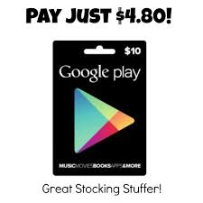 play store gift cards 10 play gift card just 4 80