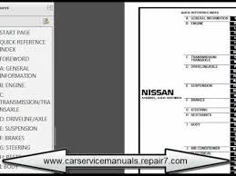 nissan urvan 2002 2006 e25 service manual and repair car
