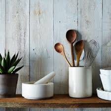 kitchen utensil storage ideas awesome wood utensil holder with white countertops and kitchen