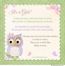 book instead of card baby shower poem baby shower invitations books instead of cards yourweek