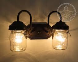 Mason Jar Ceiling Fan by Mason Jar Track Lighting Fixture Trio With Vintage Quarts
