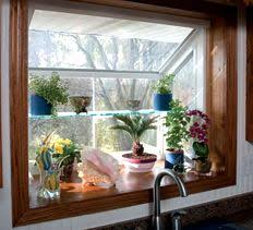 kitchen window garden besides having the greenhouse area attached to the kitchen having