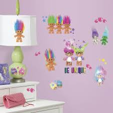 Amazon Wall Murals by Roommates Rmk3062scs Good Luck Trolls Peel And Stick Wall Decals