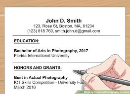 Photography Skills Resume How To Create A Photography Resume With Pictures Wikihow