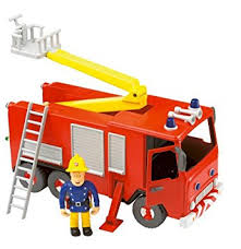 amazon fireman sam friction fire engine sam figure