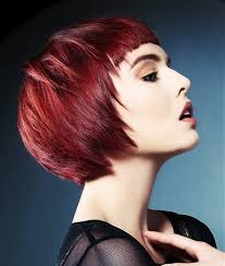a short red hairstyle from the jamison shaw collection no 25034