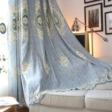 Long Living Room Curtains Floral Jacquard Chenille Thermal Long Curtains For Bedroom Or