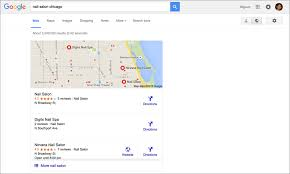 how to make your nail salon website appear on google
