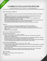 Combination Resume Sample by Sample Resume Combination Janitor Resume Sample Professional
