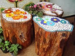 wooden garden decorations new garden decor wavy edge carbonized