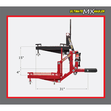 ultimate mx hauler motocross and dirt bike carrier discount ramps