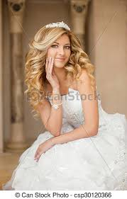 femme mariage stock image de beau cheveux femme beauté bouclé mariage