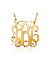 Gold Plated Monogram Necklace Gold Plated Monogram Necklaces The Name Necklace