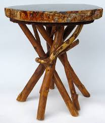 petrified wood end table petrified wood side table with branch base at 1stdibs