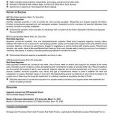 Commercial Real Estate Resume Commercial Real Estate Appraiser Resume Sales Appraiser Lewesmr