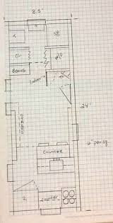 home design graph paper built on a flatbed trailer traveling home
