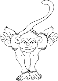 spider monkey coloring pages black handed spider monkey coloring