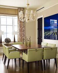 Dining Table Chandelier 54 Inch Round Table Dining Room Contemporary With Accent Wall
