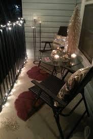balcony christmas decorations apartment balcony christmas lights