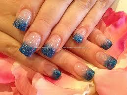 eye candy nails u0026 training blue glitter fade acrylic tips by