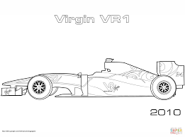 virgin vr1 forumula 1 car coloring page free printable coloring