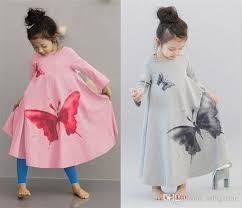 online cheap 2017 girls childrens dresses big butterfly princess