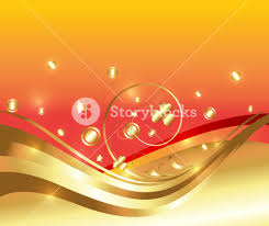 decor golden ornamental flourish background royalty free stock