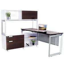overhead storage cabinets office office overhead storage options straight desk with low credenza and