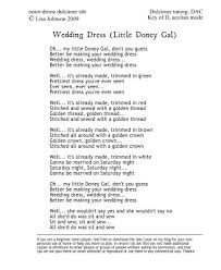 wedding dress version lyrics mountain dulcimer noter and drone wedding dress my