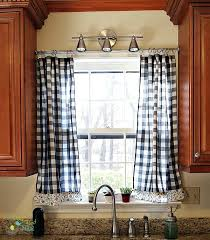 Black Check Curtains Gallery For Black And White Checkered Kitchen Curtains Black