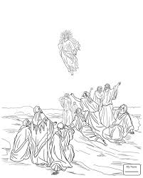 coloring pages for kids arts culture jesus ascension into heaven