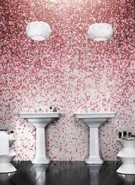 camelia mosaic tile shading blend pink tile bathrooms pink