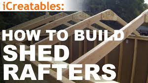 How To Build A Shed Plans For Free by How To Build A Shed Part 4 Building Roof Rafters Youtube