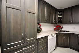 hickory grey stained kitchen cabinets gray stained hickory transitional vancouver by living