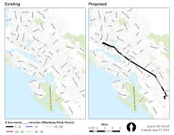 Oakland Map Overview Alameda Oakland Piedmont Proposed Improvements Ac Transit