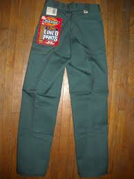 vtg mens 29 x 31 30 x 32 dickies green flannel lined jean work