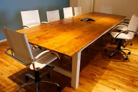 Wood Conference Table Reclaimed Farmhouse Conference Room Table Bay Area Custom Furniture