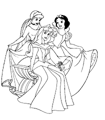 coloring graceful princess print outs disney characters