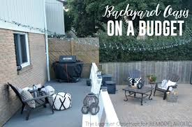 Patio Ideas For Backyard On A Budget by Remodelaholic Transform Your Backyard Into An Oasis On A Budget