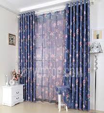 vintage curtains uk and navy color floral patterned