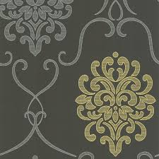 dl accent damask wallpaper contemporary wallpaper by