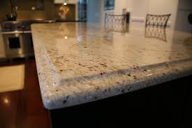 Granite Island Kitchen Colonial Cream Granite Island Counter With Ogee Edge Profile